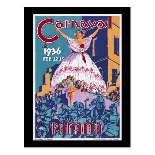 Panamá Carnaval Cartao Postal