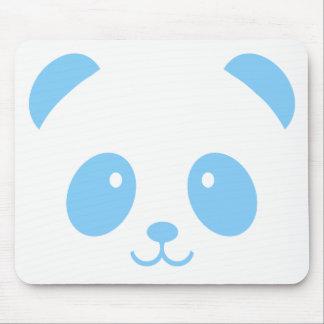 Panda azul bonito e peluches Mousepad