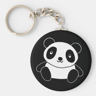 Panda bonito chaveiro
