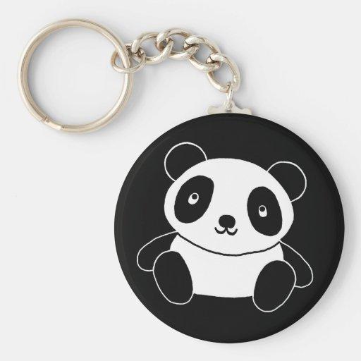 Panda bonito chaveiros