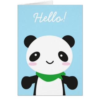 Panda bonito super de Kawaii Cartão Comemorativo