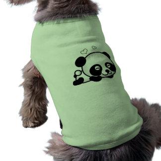 Panda confiante camisa sem mangas para cachorro