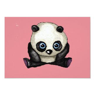 Panda Convite 12.7 X 17.78cm