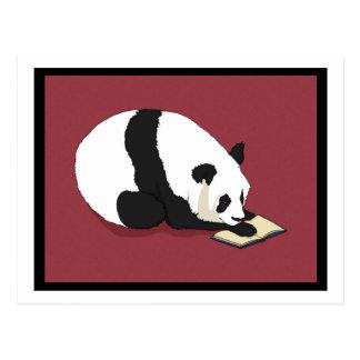 Panda da leitura cartão postal