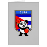 Panda de Cuba do encaixotamento Cartao