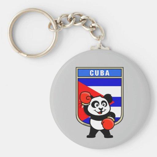 Panda de Cuba do encaixotamento Chaveiro