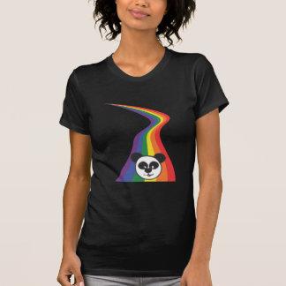 Panda do arco-íris camiseta