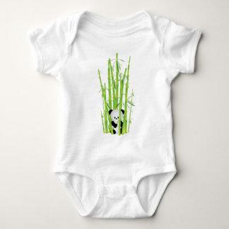 Panda do bebê na floresta de bambu body para bebê