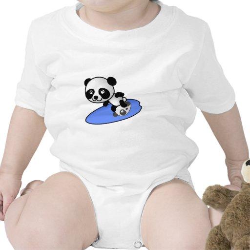 Panda do surfista t-shirt