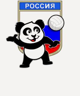 Panda do voleibol de Rússia Camiseta