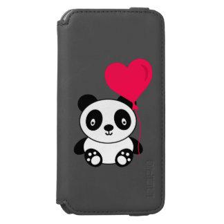 Panda dos namorados capa carteira incipio watson™ para iPhone 6