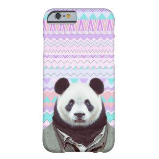Panda engraçada com a caixa tribal Pastel do Capa Barely There Para iPhone 6