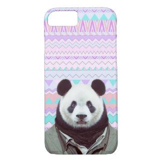 Panda engraçada com a caixa tribal Pastel do Capa iPhone 7