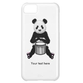 Panda engraçada que joga cilindros capa para iPhone 5C