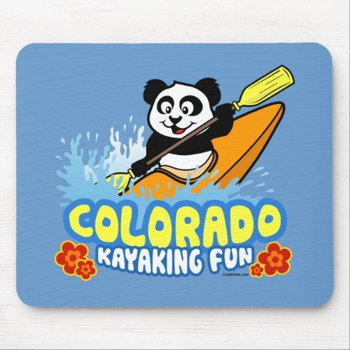Panda Kayaking do divertimento de Colorado Mousepads