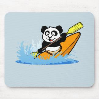 Panda Kayaking Mouse Pad