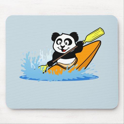 Panda Kayaking Mousepad