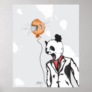 Panda louca 16in x 20in impressão