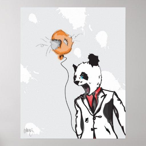 Panda louca 16in x 20in pôsteres
