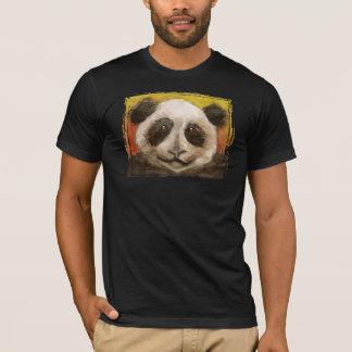 Panda no preto camiseta