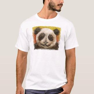 Panda no preto para miúdos camiseta