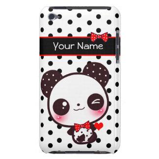 Panda personalizada de Kawaii em bolinhas pretas Capa Para iPod Touch