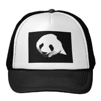 Panda preta & branca bonés