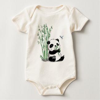 Panda que come o bambu macacão