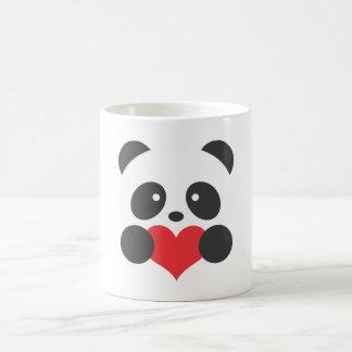 Panda que guardara uma caneca do coração