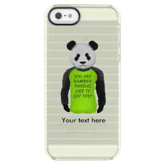 Panda que veste um t-shirt engraçado de Foodie Capa Para iPhone SE/5/5s Clear