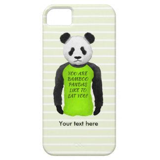 Panda que veste umas camisetas engraçadas capa barely there para iPhone 5