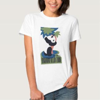 Panda retro do jardim zoológico de Brookfield T-shirt