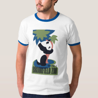 Panda retro do jardim zoológico de Brookfield T-shirts