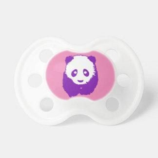 Panda roxa chupeta de bebê