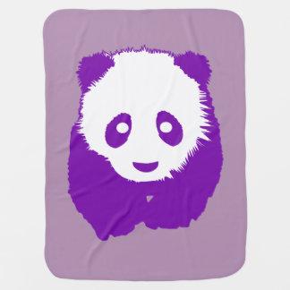 Panda roxa cobertorzinho para bebe