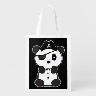 Panda Toto do pirata que compra Leon o urso de Sacola Ecológica