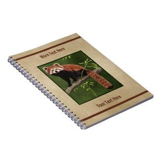 Panda vermelha caderno