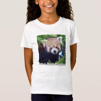 Panda vermelha camiseta