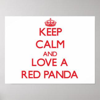 Panda vermelha posters