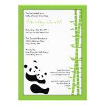 Pandas & bambu modernos 5 x convite 7