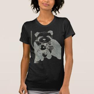 Pandas do bloco de desenho t-shirt