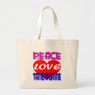 Pandeiro do amor da paz bolsa