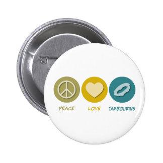 Pandeiro do amor da paz boton