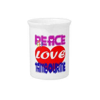 Pandeiro do amor da paz jarros