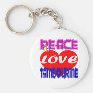 Pandeiro do amor da paz chaveiro