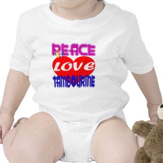 Pandeiro do amor da paz macacãozinho