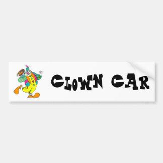 Pandeiro que joga o palhaço adesivo para carro