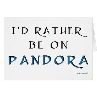 Pandora Cartão Comemorativo