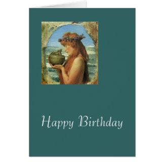 """""""Pandora"""" por Alma-Tadema Cartão Comemorativo"""
