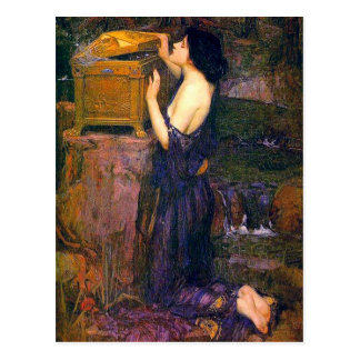 Pandora por John William Waterhouse Cartão Postal